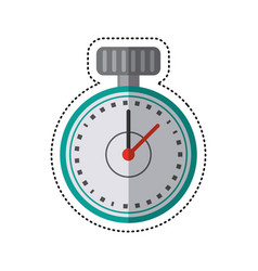 cartoon chronometer time sport tool vector image