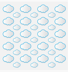 Cloud icon white color on white background vector