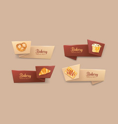 collection of elegant tape or ribbon banners with vector image