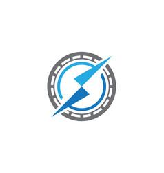 compass logo template icon vector image