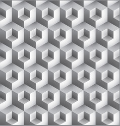 Cube geometric pattern vector