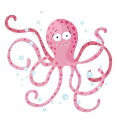 cute octopus isolated t-shirt design for children vector image