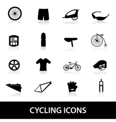 Cycling icons eps10 vector