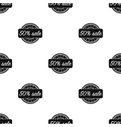 Discount icon in black style isolated on white vector