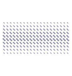 dna spiral shape halftone effect vector image