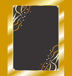 Elegant border gold vector