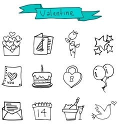 Element Valentine day of icons vector image