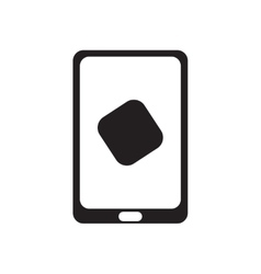 Flat icon in black and white smartphone vector image