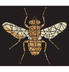 Fly mosaic vector