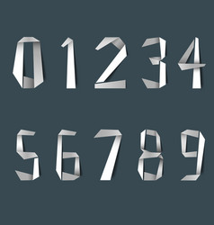 folded white design paper numbers template vector image