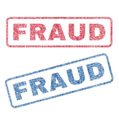 Fraud textile stamps vector