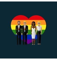 gay marriage flat vector image