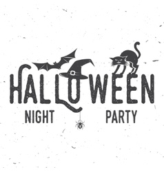 Halloween night party concept vector image