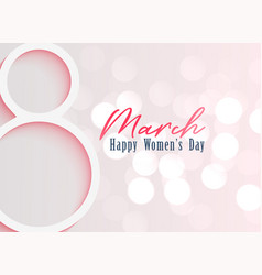 Happy womens day celebration background vector