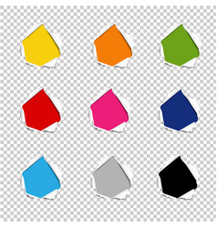 hole collection torn paper isolated transparent vector image