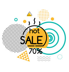 Hot sale 70 percent off linear badge with figures vector
