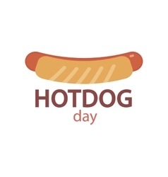Hotdog icon vector