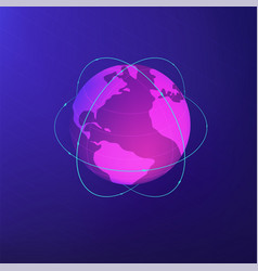 isomentric global network concept vector image