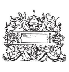 Italian renaissance architectural frame was an vector