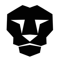 lion face2 vector image