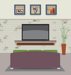 Living Room Decorated vector