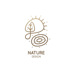 Logo nature elements simple decorative vector