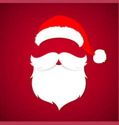 merry christmas concept red with christmas hat vector image