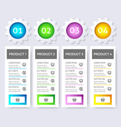 Modern product price table design template vector