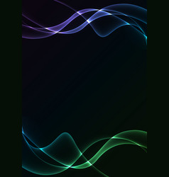 multicolor flame curve layer abstract background vector image