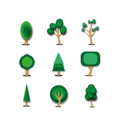objects tree set vector image