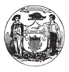 official seal us state wisconsin in vector image