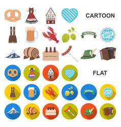 Oktober festival in munich cartoon icons in set vector