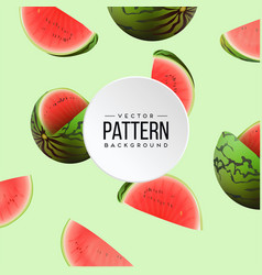 pattern watermelon green background image vector image