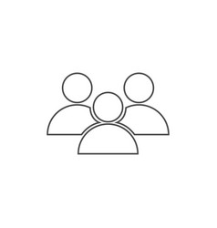 people icon in line design on white background vector image