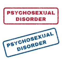 Psychosexual Disorder Rubber Stamps vector