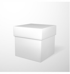 realistic white gift box isolated on gray vector image