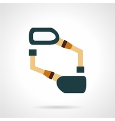 Rearview mirror flat icon vector
