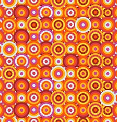 Seamless pattern of different circles Abstract vector image