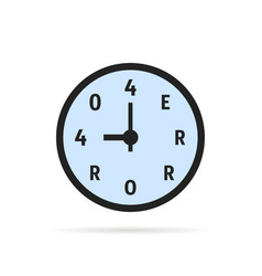 simple 404 error on watch vector image