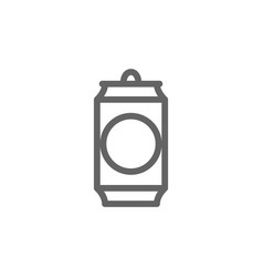 Simple beer can line icon symbol and sign vector