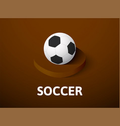 soccer isometric icon isolated on color vector image