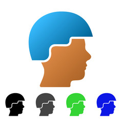 Soldier helmet flat gradient icon vector