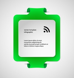 Square infographic template with green color vector