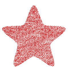 Star fabric textured icon vector
