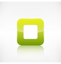 Stop icon Application button vector