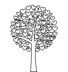 tree hearts love isolated icon vector image