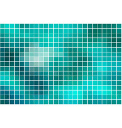 Turquoise green square mosaic background over vector