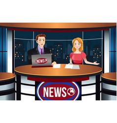 Tv news anchors vector
