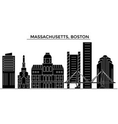 Usa massachusetts boston architecture vector