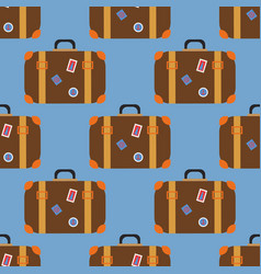 Vintage travel suitcases vector